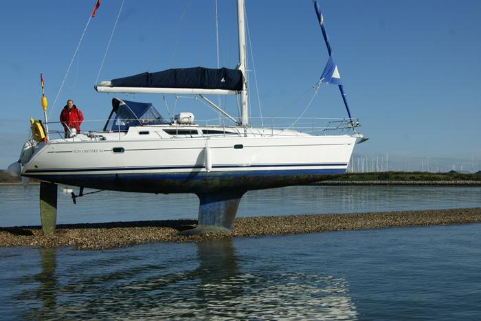 Jeanneau Sun Odyssey 40 defies gravity » Network Yacht ...